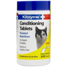 Kitzyme Cat Conditioning - Китзим 300 таблеток Витамины для кошек
