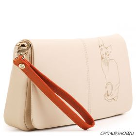 сумка женская из натуральной кожи Сфинкс  Fiato Dream (бежевая)