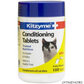 Kitzyme Cat Conditioning - Китзим 100 таблеток Витамины для кошек